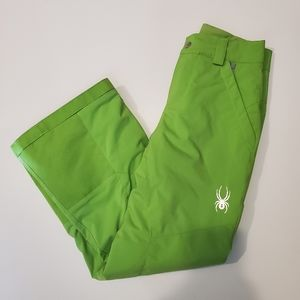 Spyder Boy's Ski Pant Green New Without Tags